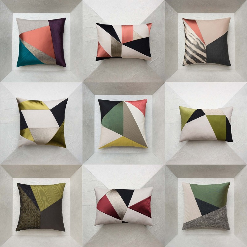 Geometric design decorative cushions | Maison Popineau | Paris