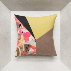 Unique cushion – Maison Popineau, specialist in neo-patchwork cushions